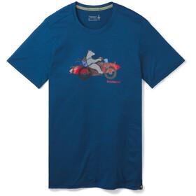 Smartwool Merino Sport 150 Motor Bear Tee Men alpine blue